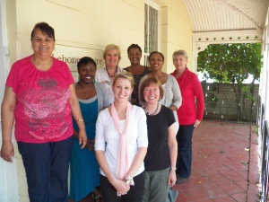 Me and all of the amazing women of the Lebone Centre